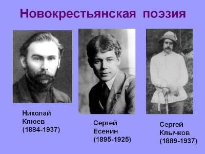 Образ крестьянской России в лирике новокрестьянских поэтов